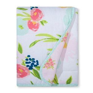 Floral baby toddler blanket